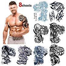 tatuajes temporales para hombres